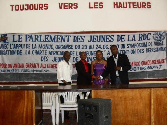 LE PARLEMENT DES JEUNES DE LA RDC EN ACTION